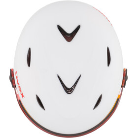 UVEX Junior Visor Pro Casco de bicicleta Niños, white-red mat